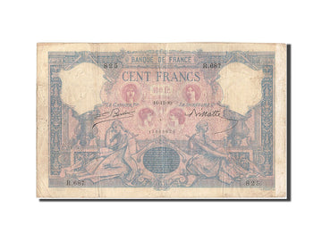 France, 100 Francs, 100 F 1888-1909 ''Bleu et Rose'', 1889, KM:65a, 1889-12-1...