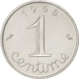 Coin, France, Centime, 1968, MS(65-70), Chrome-Steel, KM:P386, Gadoury:4.P1