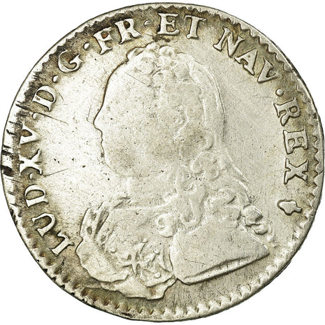 Coin, France, 1/10 Ecu, 1727, Reims, VF(30-35), Silver, Gadoury:291