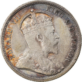 Coin, EAST AFRICA, Edward VII, 50 Cents, 1906, EF(40-45), Silver, KM:4