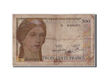 Banknote, France, 300 Francs, 300 F 1938-1939, Undated (1939), Undated