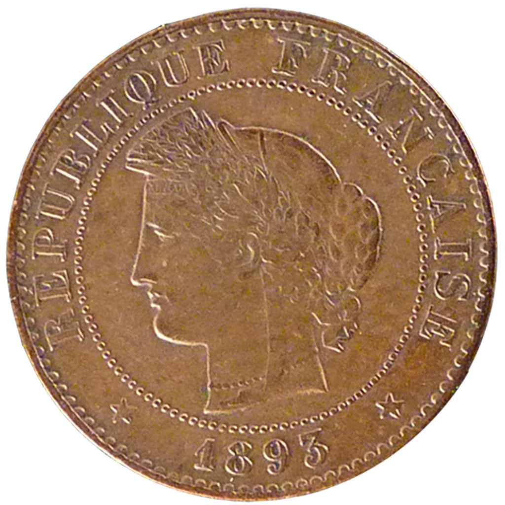 Coin, France, Cérès, Centime, 1893, Paris, AU(50-53), Bronze, Gadoury:88