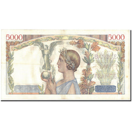 Banknote, France, 5000 Francs, 1939, 1939-09-21, VF(30-35), Fayette:46.11