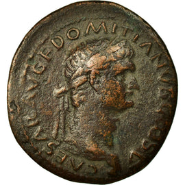 Coin, Domitia, As, Roma, VF(30-35), Copper, Cohen:454