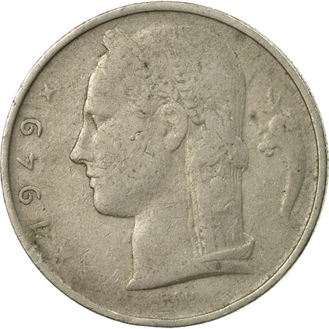 Coin, Belgium, 5 Francs, 5 Frank, 1949, EF(40-45), Copper-nickel, KM:134.1