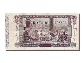 Banknote, France, 5000 Francs, 5 000 F 1918 ''Flameng'', 1918, 1918-01-24