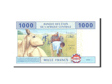 Banknote, Central African States, 1000 Francs, 2002, Undated, KM:202Eh