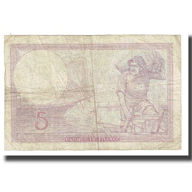France, 5 Francs, Violet, 1939, P. Rousseau and R. Favre-Gilly, 1939-11-02