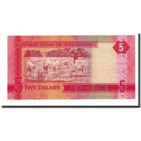 Banknote, Gambia, 5 Dalasis, UNDATED (2015), UNC(65-70)