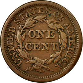 Coin, United States, Braided Hair Cent, Cent, 1844, U.S. Mint, Philadelphia