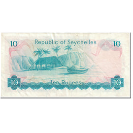 Banknote, Seychelles, 10 Rupees, 1976, Undated (1976), KM:19a, EF(40-45)