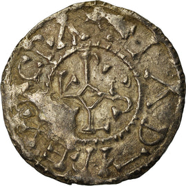 Coin, France, Charles le Chauve, Denier, 864-865, Curtisasonien, AU(50-53)
