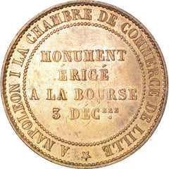 Coin, France, 10 Centimes, 1854, Lille, MS(60-62), Bronze, KM:M25, Gadoury:251