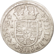 SPAIN, Real, 1721, Seville, KM #306.2, EF(40-45), Silver, 2.55