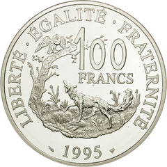 France, 100 Francs, 1995, MS(65-70), Silver, KM:1136, Gadoury:C132