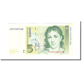 Banknote, GERMANY - FEDERAL REPUBLIC, 5 Deutsche Mark, 1991-08-01, KM:37