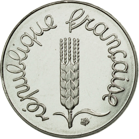 Coin, France, Centime, 1991, MS(65-70), Stainless Steel, Quality BE, Gadoury:91b