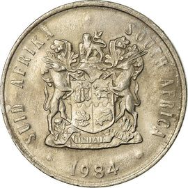 Coin, South Africa, 20 Cents, 1984, AU(55-58), Nickel, KM:86