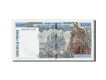 Banknote, West African States, 5000 Francs, 1992, Undated, KM:113Aa, UNC(65-70)