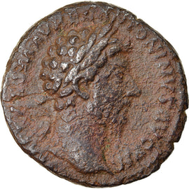 Coin, Marcus Aurelius, As, 162-163, Rome, EF(40-45), Bronze, RIC:850