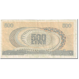 Banknote, Italy, 500 Lire, 1967, 1967-10-20, KM:93a, VG(8-10)