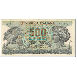 Banknote, Italy, 500 Lire, 1967, 1967-10-20, KM:93a, EF(40-45)