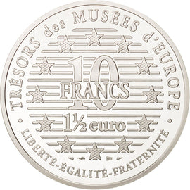 Coin, France, 10 Francs-1.5 Euro, 1996, Paris, MS(65-70), Silver, KM:1124