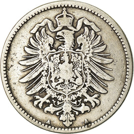 Coin, GERMANY - EMPIRE, Wilhelm I, Mark, 1876, Berlin, VF(30-35), Silver, KM:7