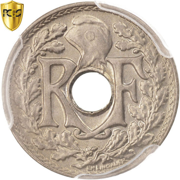 Coin, France, Lindauer, 5 Centimes, 1924, Paris, PCGS, MS65, MS(65-70)