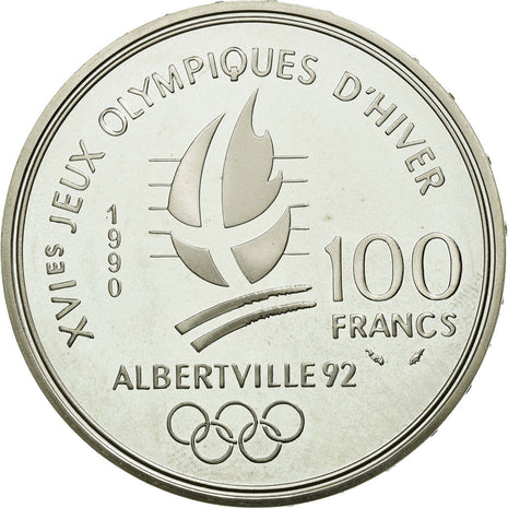 Coin, France, 100 Francs, 1990, MS(65-70), Silver, Gadoury:910