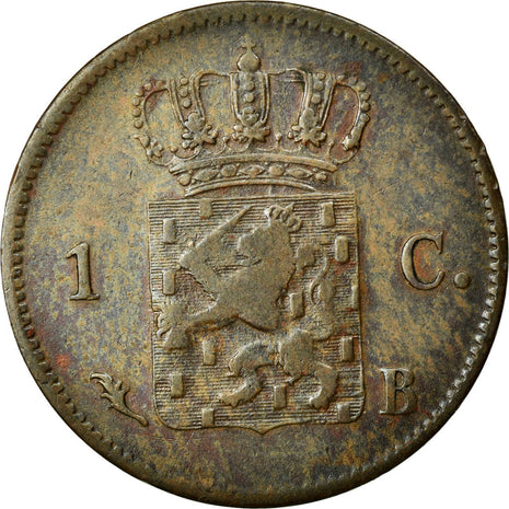 Coin, Netherlands, William I, Cent, 1827, Brussels, EF(40-45), Copper, KM:47