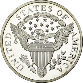 United States of America, Medal, Reproduction Silver Dollar Liberty, MS(65-70)