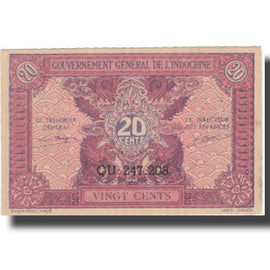 Banknote, FRENCH INDO-CHINA, 20 Cents, Undated (1942), KM:90, UNC(63)