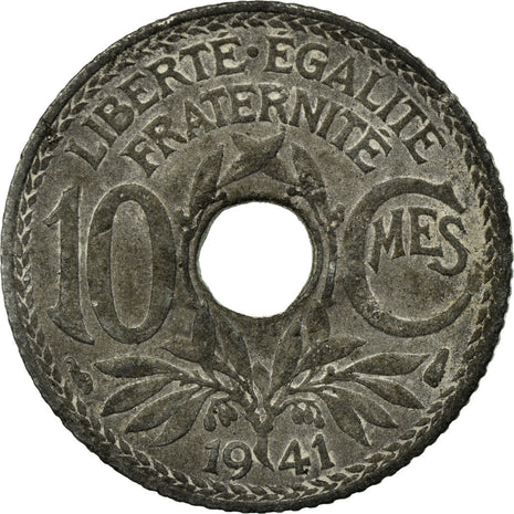 Coin, France, 10 Centimes, 1941, Paris, VF(30-35), Zinc, KM:895, Gadoury:288