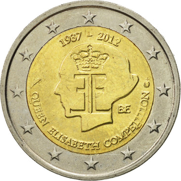 Belgium, 2 Euro, Queen Elisabeth, 2012, MS(63), Bi-Metallic