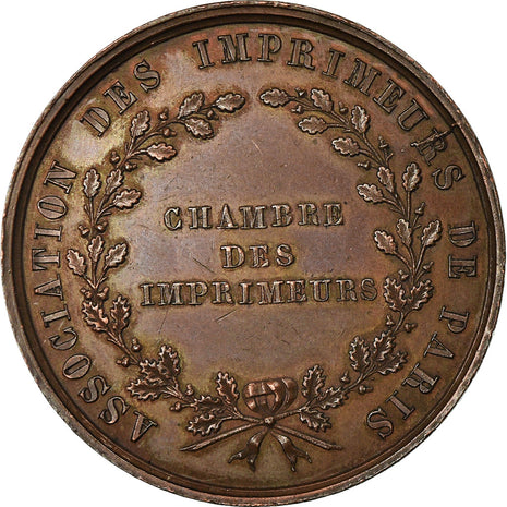 France, Token, Association  des Imprimeurs de Paris, 1840, Stern, MS(60-62)