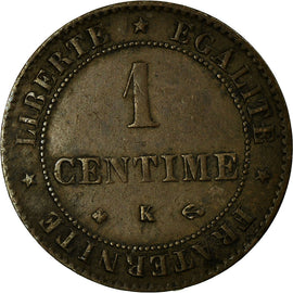 Coin, France, Cérès, Centime, 1872, Bordeaux, AU(50-53), Bronze, KM:826.2