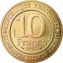 Coin, France, 10 Francs, 1987, MS(65-70), Nickel-Bronze, KM:E136, Gadoury:820