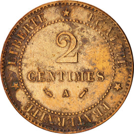 Coin, France, Cérès, 2 Centimes, 1892, Paris, EF(40-45), Bronze, KM:827.1