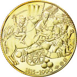 Belgium, Medal, Bataille de Waterloo, 1990, MS(65-70), Gold