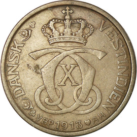 Coin, Danish West Indies, Cent, 5 Bit, 1913, Copenhagen, EF(40-45), Bronze