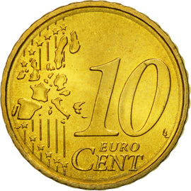 Portugal, 10 Euro Cent, 2003, MS(63), Brass, KM:743