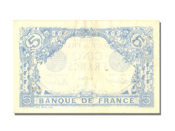 France, 5 Francs, 5 F 1912-1917 ''Bleu'', 1916, KM #70, 1916-05-06, UNC(60-62),.
