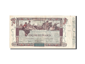 Banknote, France, 5000 Francs, 5 000 F 1918 ''Flameng'', 1918, 1918-01-29