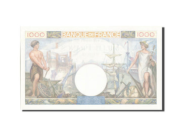 France, 1000 Francs, 1 000 F 1940-1944 ''Commerce et Industrie'', 1940, KM...