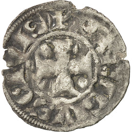 Coin, France, Philip II, Denier Parisis, Paris, VF(20-25), Silver, Duplessy:164