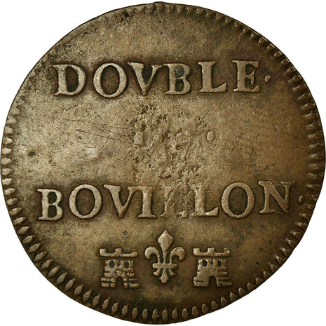Coin, FRENCH STATES, BOUILLON & SEDAN, Geoffrey Maurice, 2 Liards, Bouillon