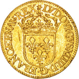 France, Louis XIV, Écu d'or, 1645, Lyon, AU(50-53), Gold, KM:146.5