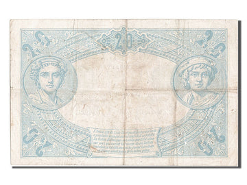 France, 20 Francs, 20 F 1905-1913 ''Bleu'', 1906, KM #68a, 1906-03-03,...