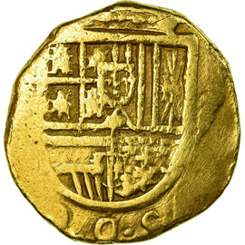 Coin, Spain, 2 Escudos, Seville, VF(30-35), Gold